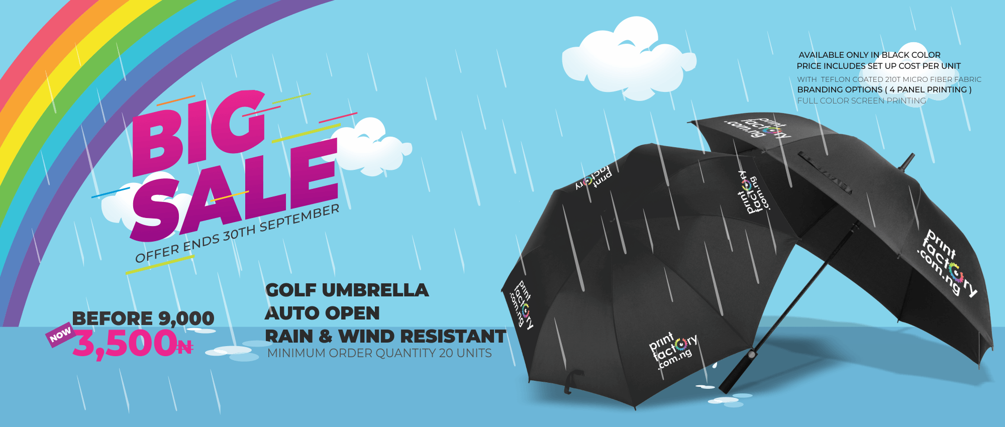 big sale Promo - Umbrella